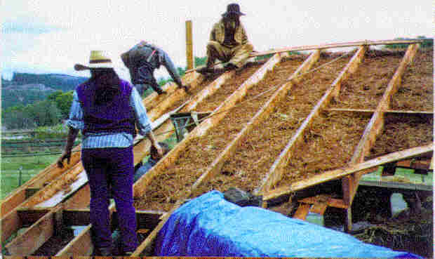 Clay/Straw insulation under sod